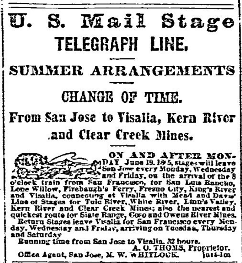 US Mail Stage Telegraph Line