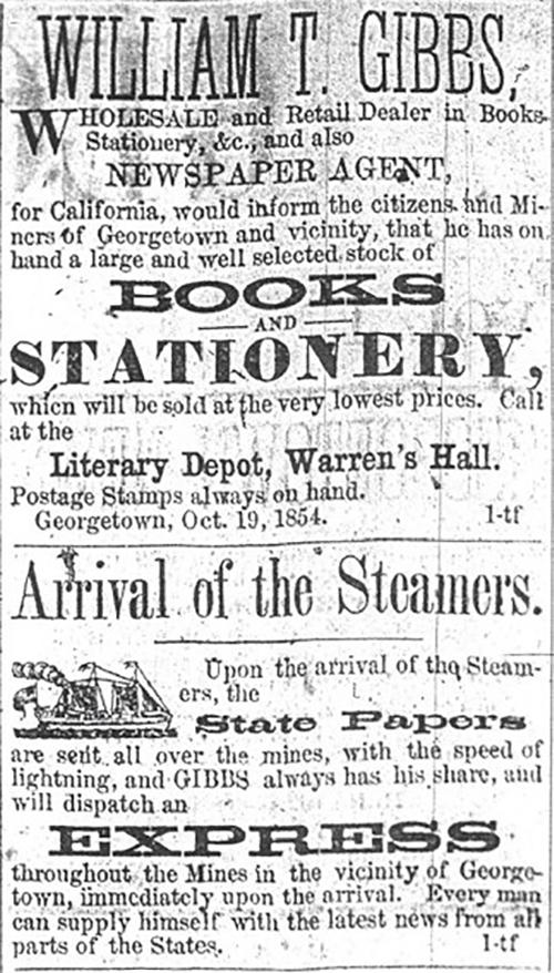 William T. Gibbs newspaper agent