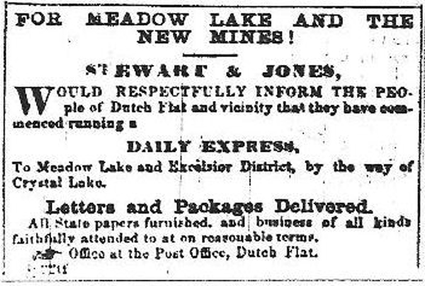 Earliest Ad for Meadow Lake and the new mines