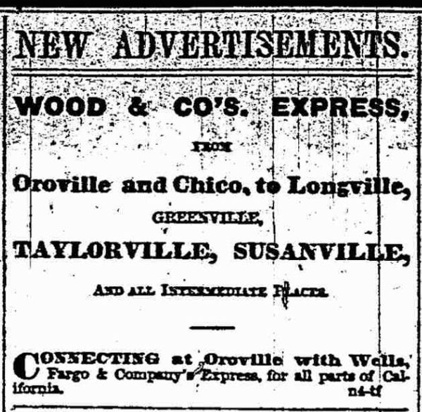 First Ad for Wood & Co.s Express