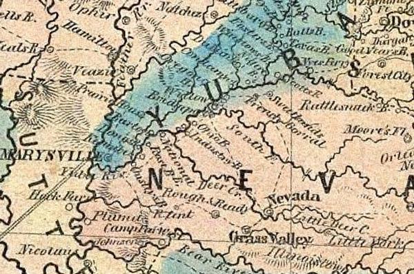 Map in California in 1853