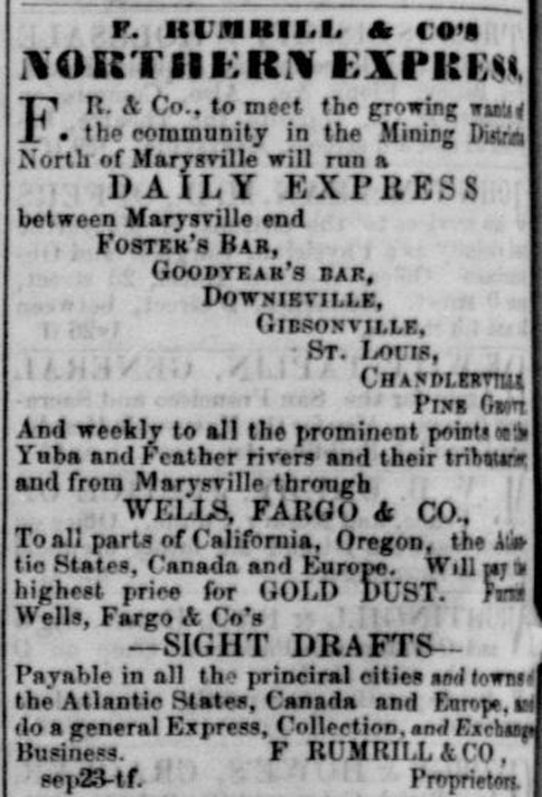 Rumrill & Co. First Ad Sep 13 1853