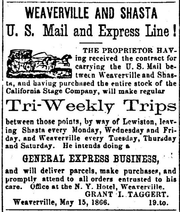First Ad Weaverville weekly Trinity Journal